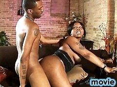 Chocolate hottie Lavender getting fucked by CJ